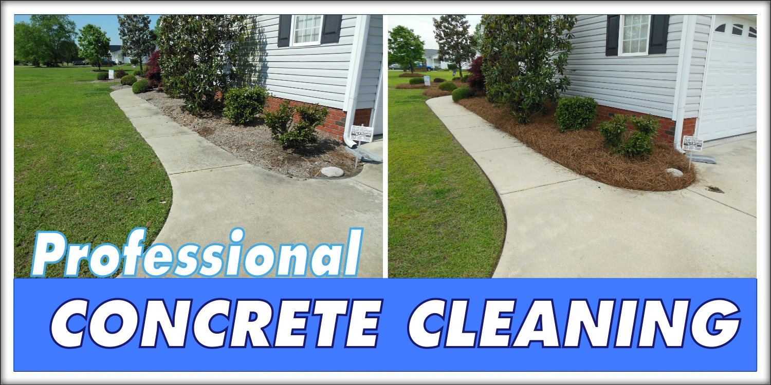 Intercoastal exteriors pressure washing greenville nc for Cement driveway cleaner